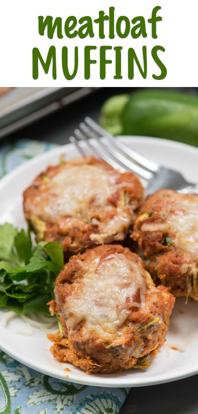 These Mini Turkey Meatloaf Muffins are so easy to make and great for an easy dinner because they bake up fast! These mini meatloaves are full of ground turkey and shredded zucchini making them a delicious yet healthy weeknight meal.