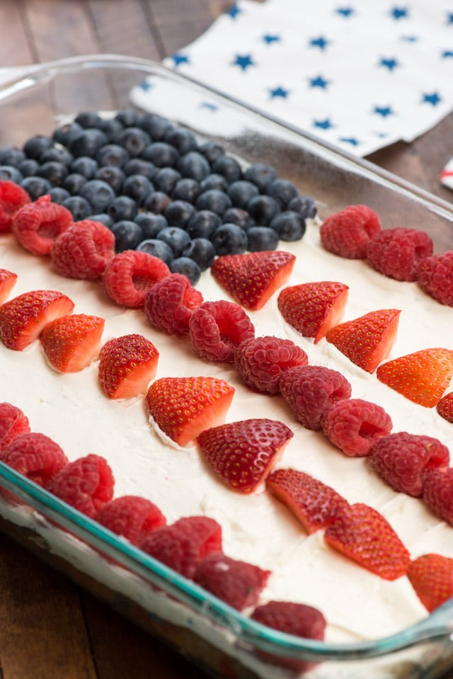 Funfetti Flag Cake