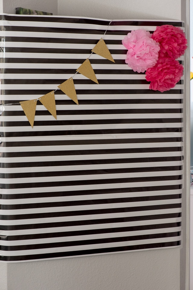 Kate Spade Birthday Party photo wall