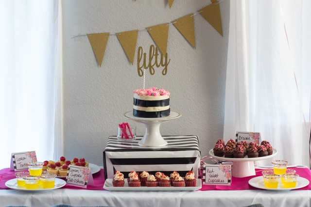 Kate Spade Birthday Party dessert table