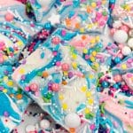 close up of unicorn bark recipe