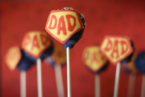 lollipops that say Dad on them