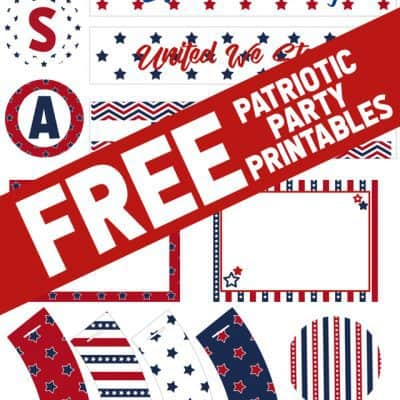 FREE Patriotic Party Printables