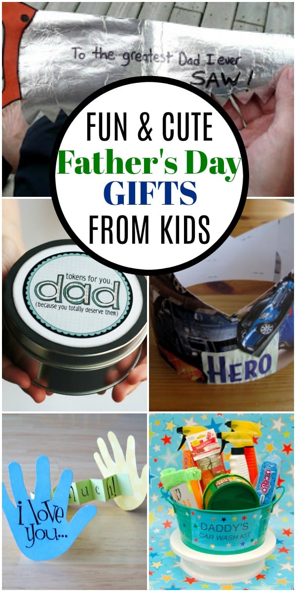 This list of homemade Father's Day Gifts from kids will show dad the love! DIY, crafts, and more easy gift ideas for dad this Father's Day!