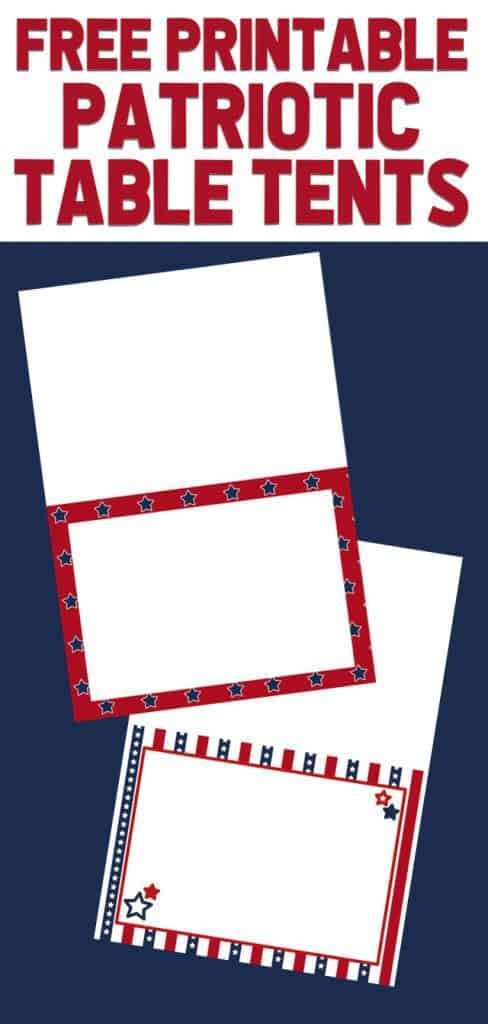 picture regarding Printable Table Tents referred to as Absolutely free Patriotic Occasion Printables Straightforward Fantastic Programs