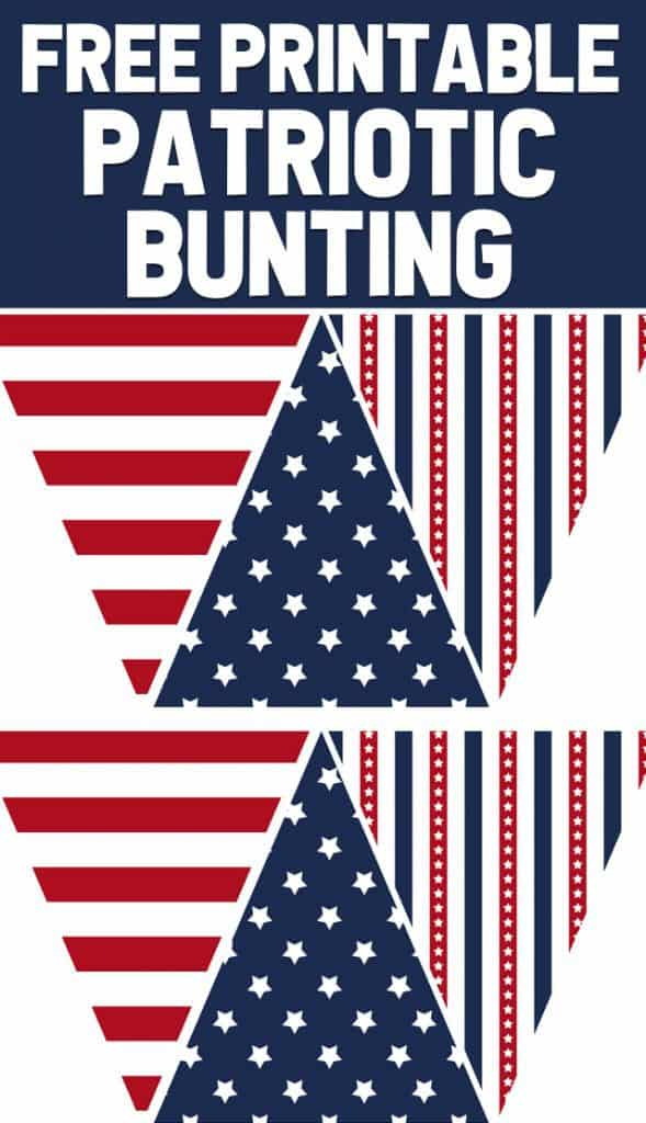Free patriotic bunting for the 4th of July!