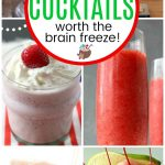 collage of frozen cocktails recipes