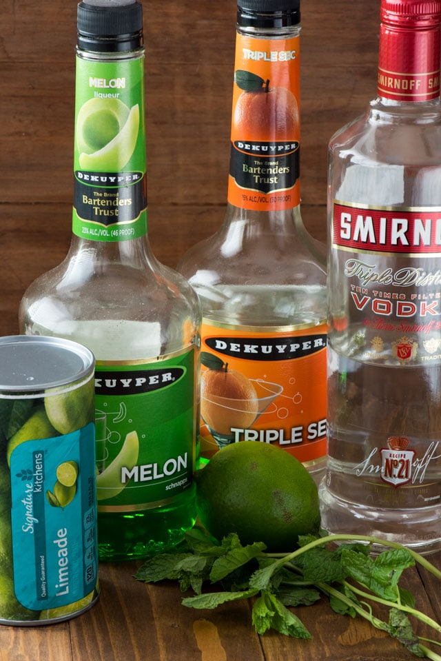 ingredients for midori sour punch