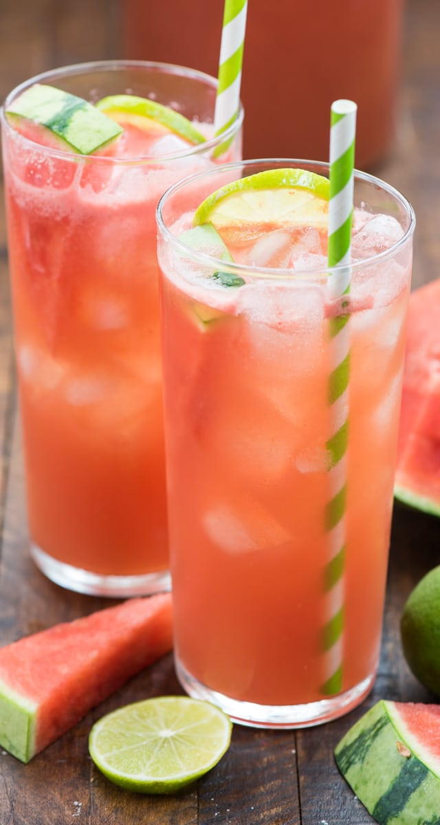 glass of watermelon party punch