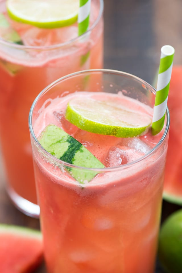 close up of watermelon party punch