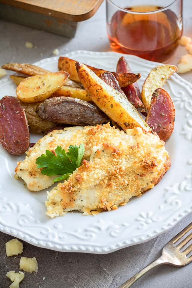 Parmesan Baked Chicken Tenders with potatoes