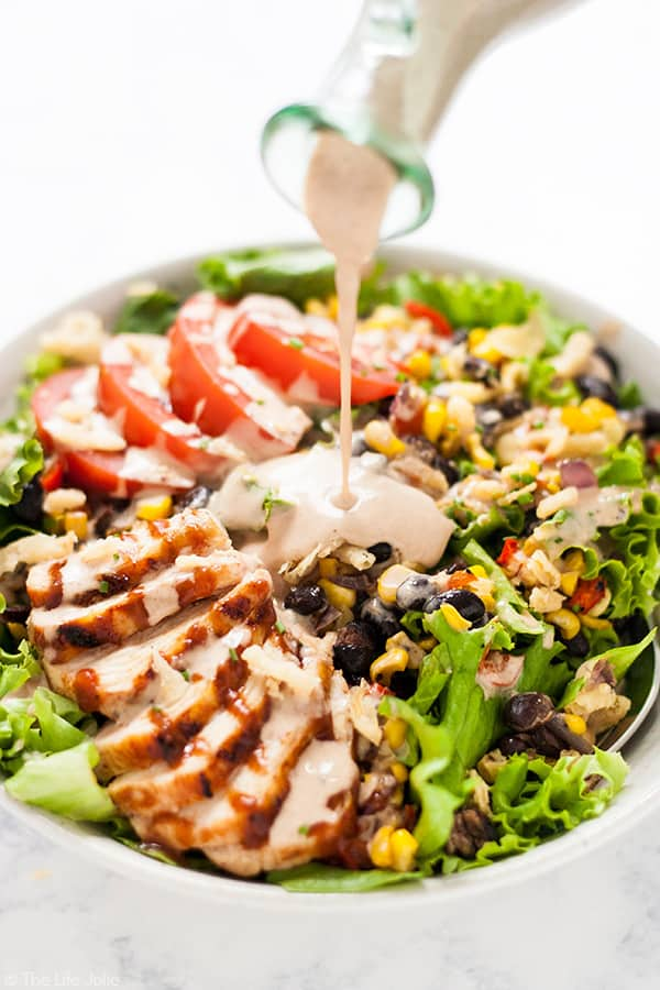 Copycat Panera Bread BBQ Chicken Salad | The Life Jolie