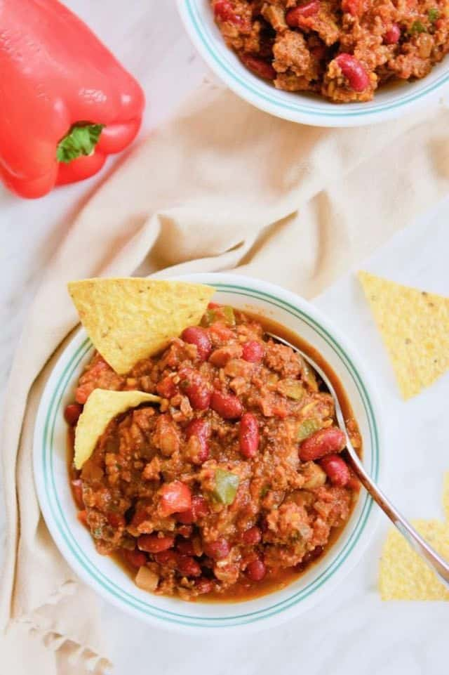 Instant Pot Chili | melissatorio.com