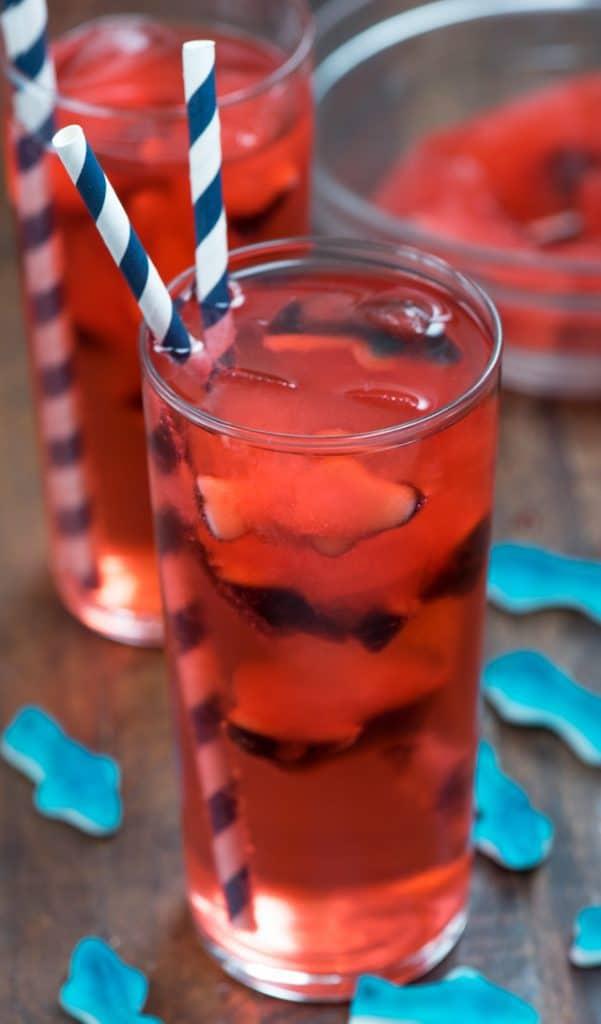 glass of shark bite punch