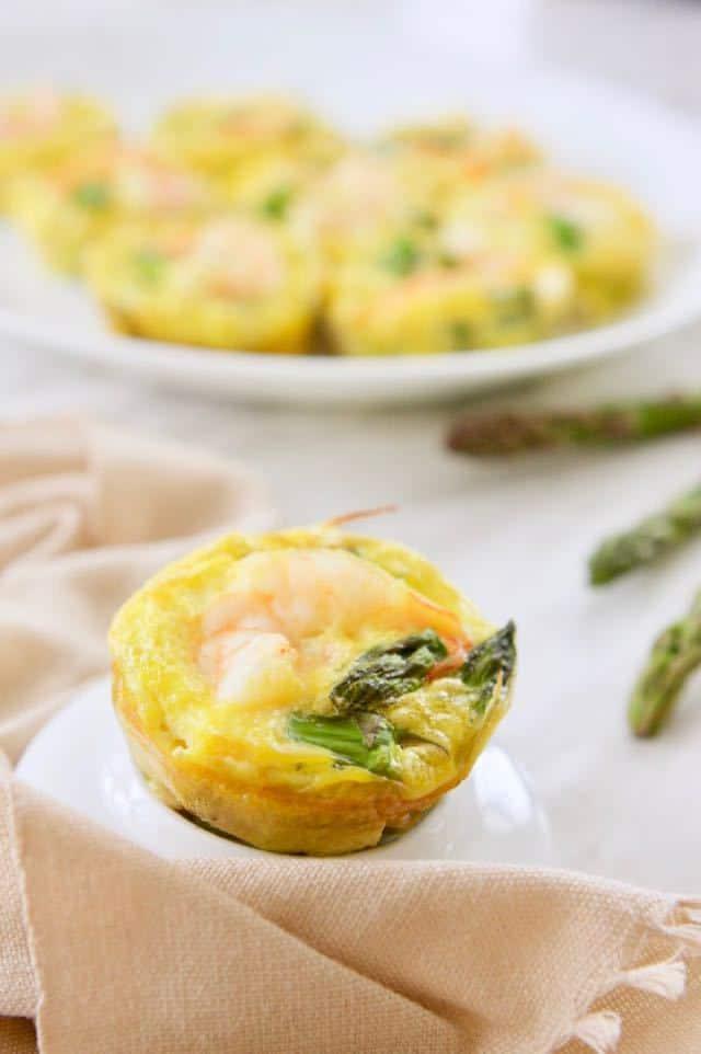 Asparagus Shrimp Egg Cups | melissatorio.com