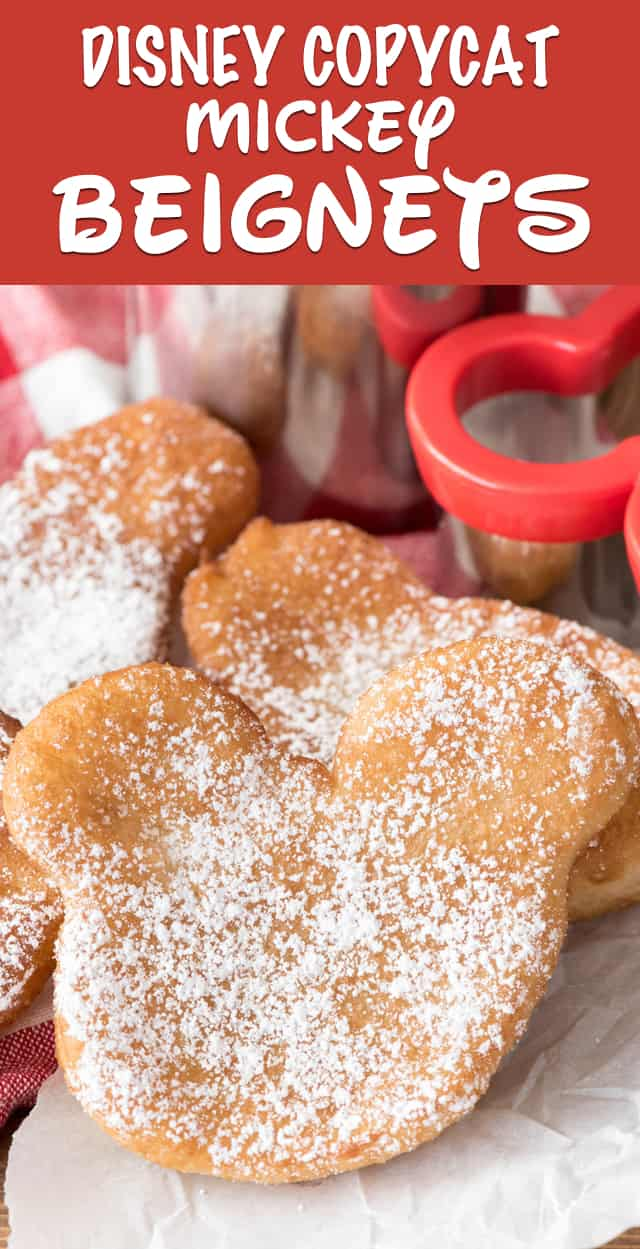 These EASY Beignets start with biscuit dough! They have only 3 ingredients and are the perfect copycat disneyland recipe!