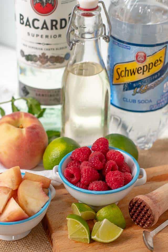 Peach Raspberry Mojito Easy Good Ideas