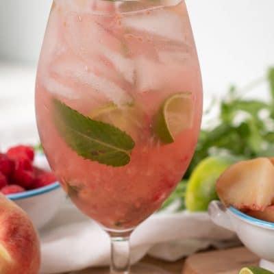 Peach Raspberry Mojito