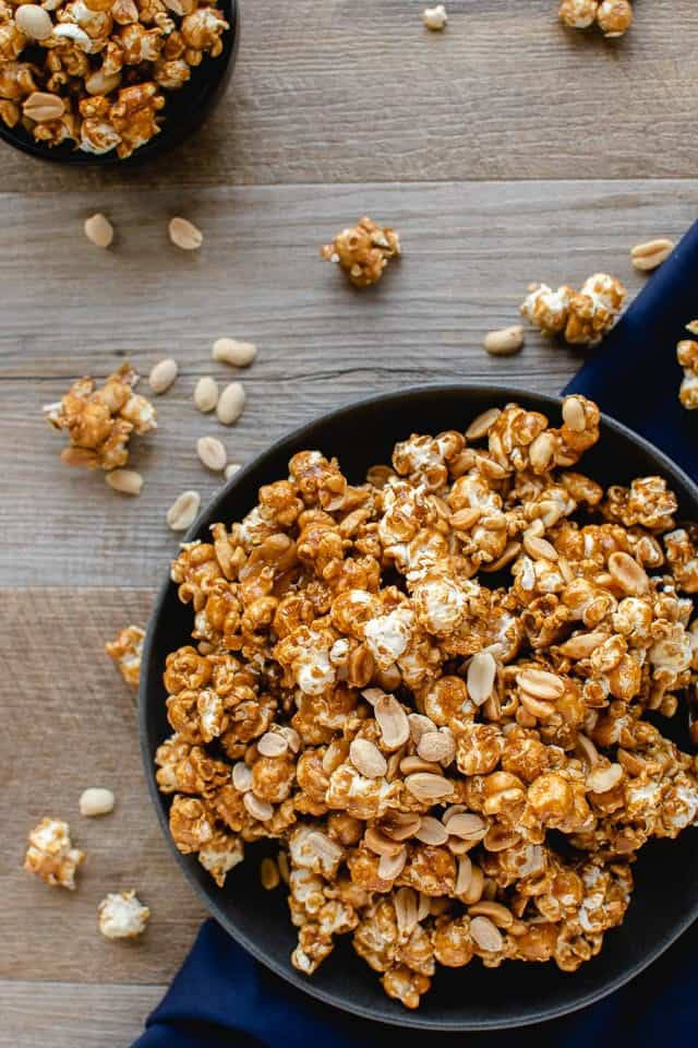 Homemade Caramel Popcorn With Nuts