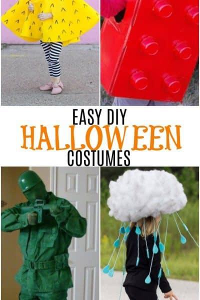 collage of diy halloween costumes