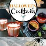 collage of halloween cocktails recipes