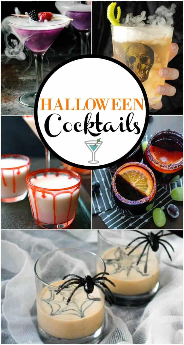 Hosting a Halloween Party? Serve up one of these spooky Halloween Cocktails! Halloween parties are all about the fun and spooky food and drinks. These Halloween Cocktails will get the party going!