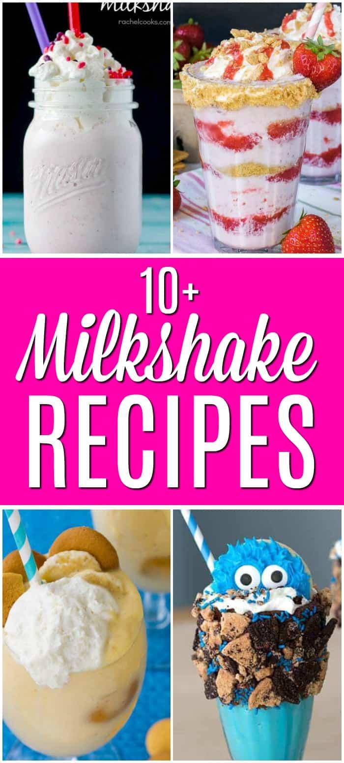 collage of milkshakes photo