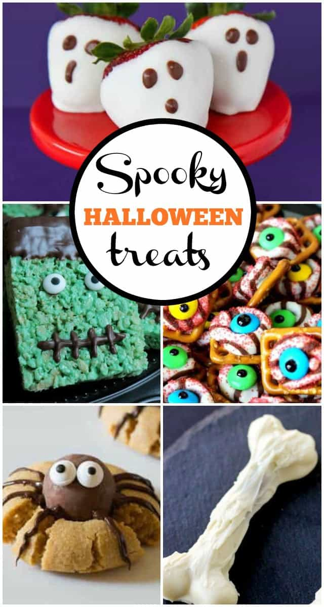 These Spooky Halloween Treats are a fun way to celebrate Halloween! Having a party or taking treats to a class party? These spooky Halloween treats will make every kid smile!