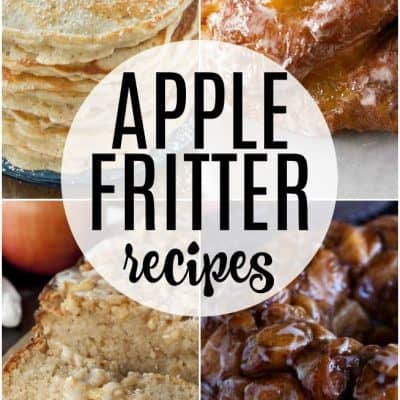 apple fritter recipes collage