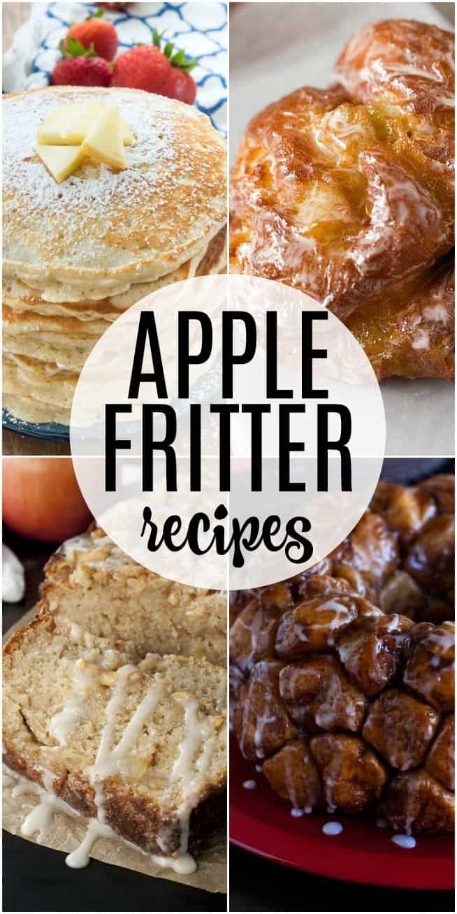 Apple Fritter recipes are perfect for anyone who loves apples: make them doughnuts or pancakes or even monkey bread. Apple fritter recipes are easy and perfect for fall!