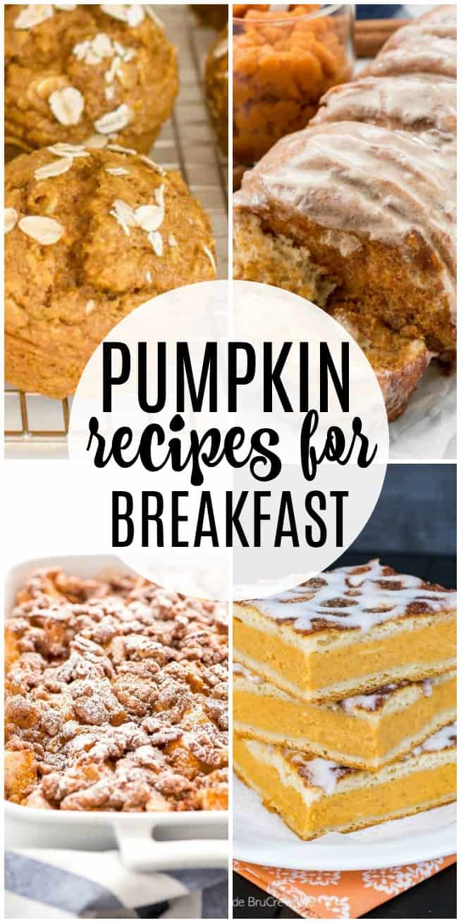 If you love pumpkin breakfast recipes then these muffins, casseroles, and more are the perfect recipes for you. Eat pumpkin for breakfast and enjoy pumpkin all season long!