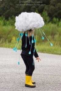 girl in a rain cloud costume