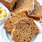 sliced applesauce cake