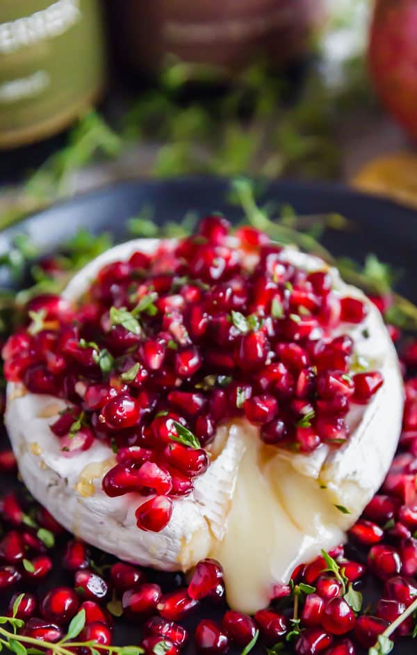 Pomegranate Thyme Baked Brie | The Life Jolie