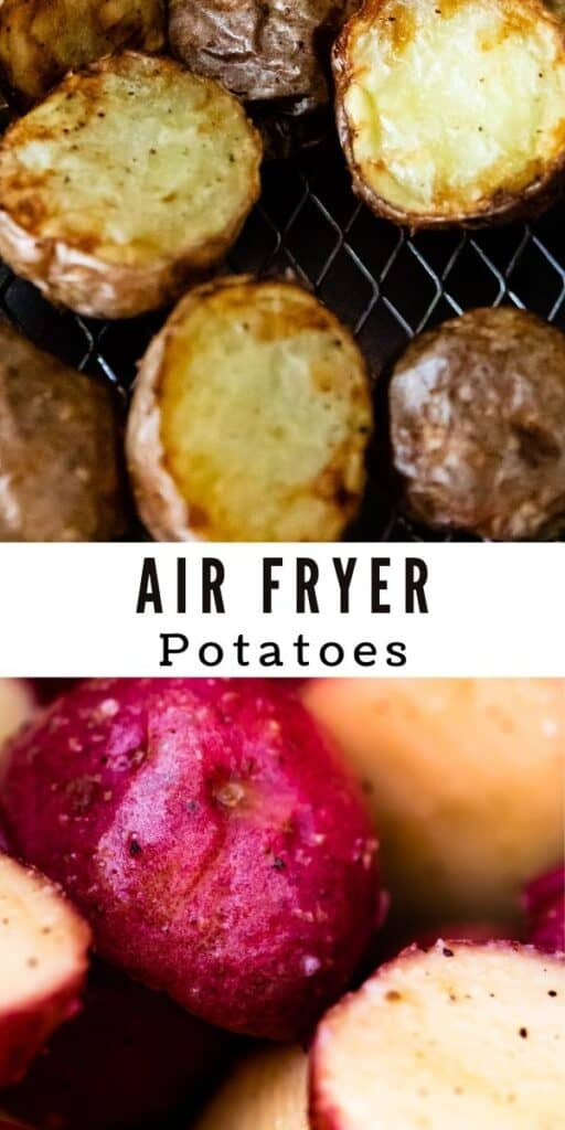 Air fryer potatoes collage