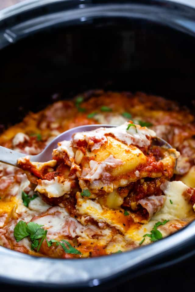 Spoonful of ravioli casserole