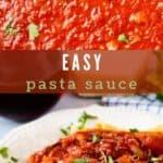 Easy pasta sauce collage