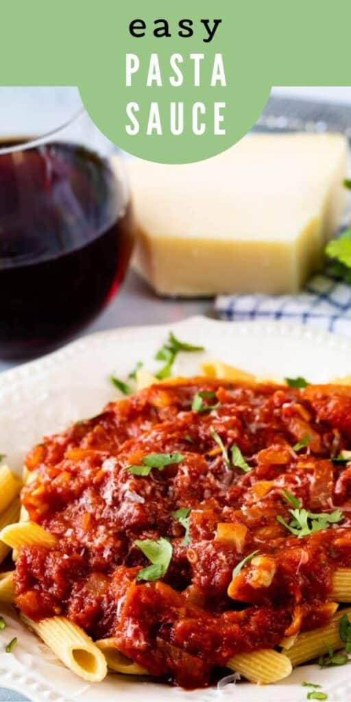 Homemade italian pasta sauce