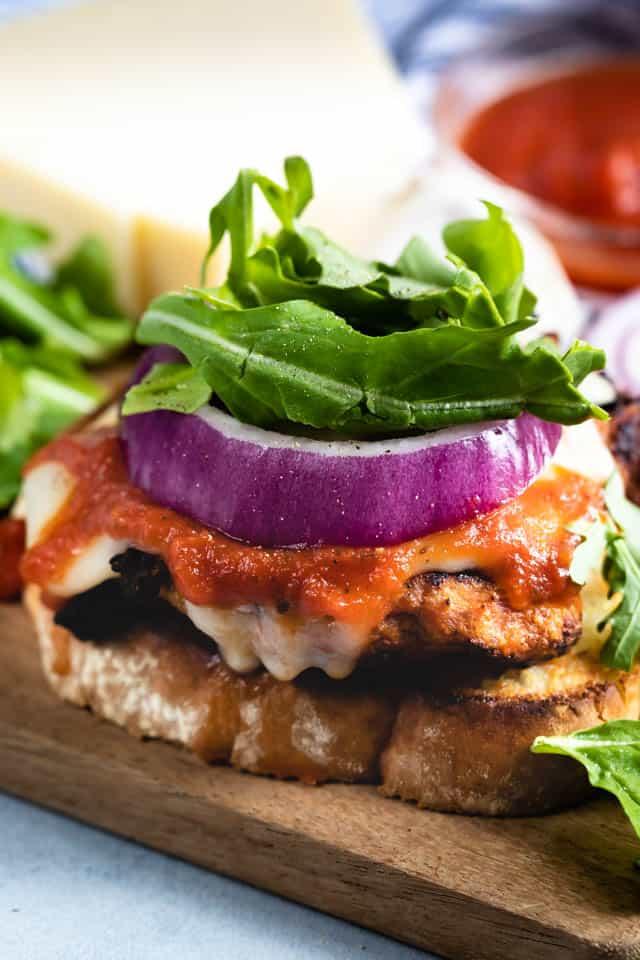 Juicy Italian turkey burgers