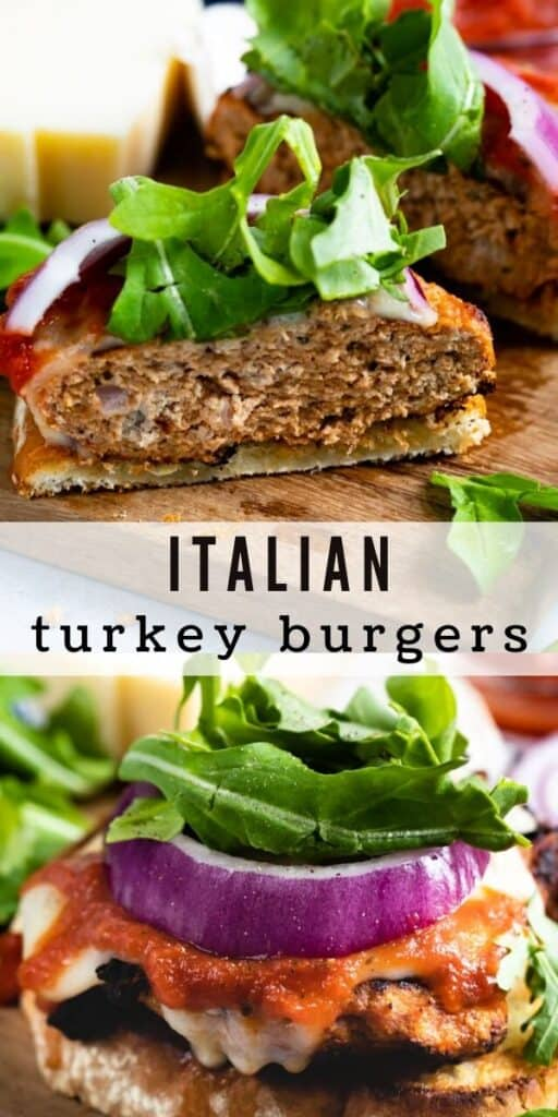 Open face italian burgers collage