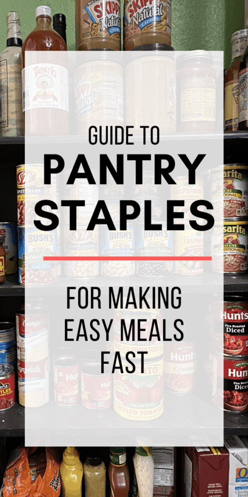 pantry staples graphic