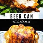 The best beer can chicken collage