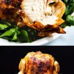 Beer can chicken collage