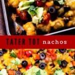 Tater tot nachos photo collage