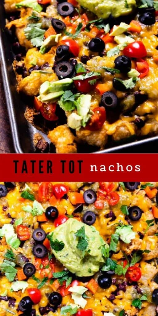 Tater tot nachos photo collage