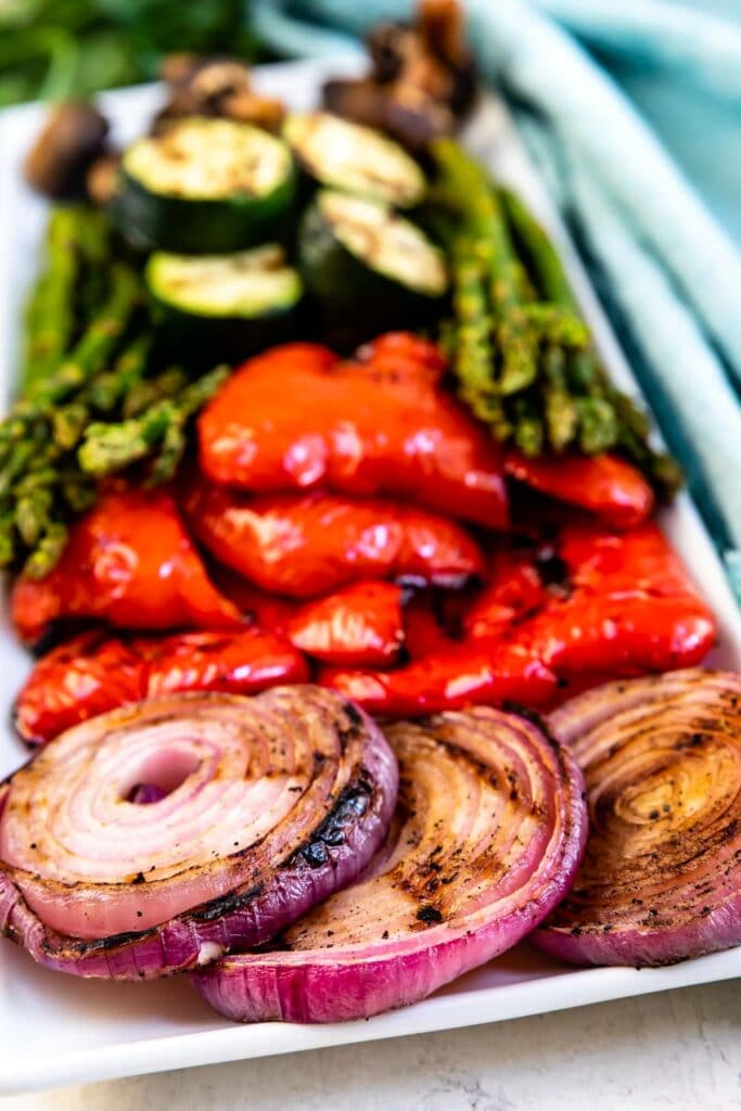 Plate full of grilled vegetables